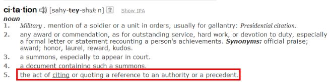 local citation definition