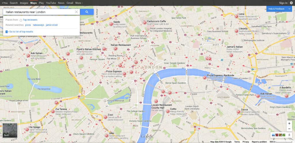 italian restaurants near London - Google Maps 2013-09-09 18-28-48