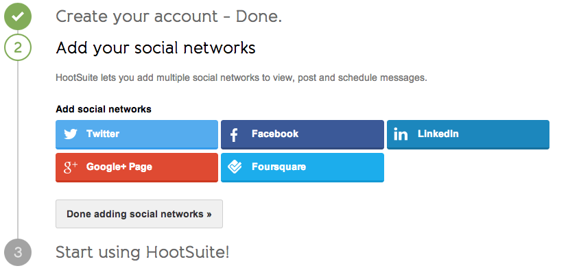 add social networks to hootsuite