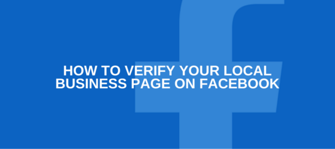 Verify your local business page on Facebook