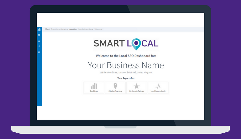 Local search audit dashboard
