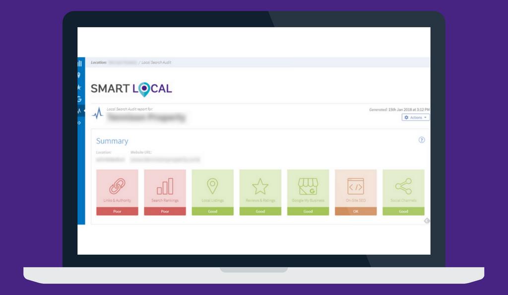Local search audit website audit