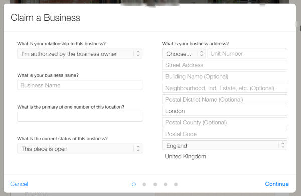 Claim a business on Apple Maps