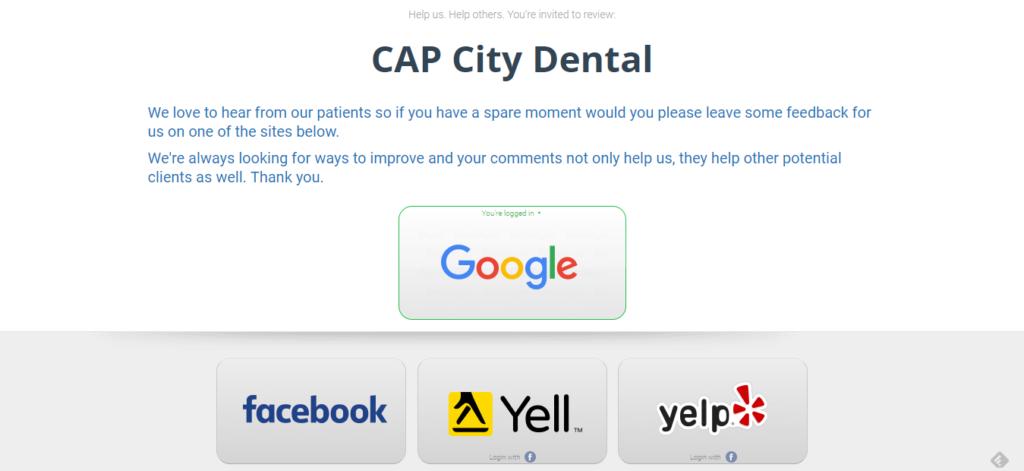 screenshot of the Smart Reviews dashboard