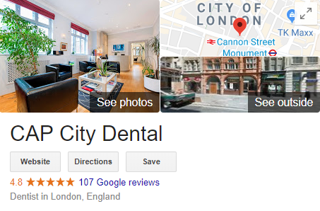 Example of a local knowledge graph in Google search